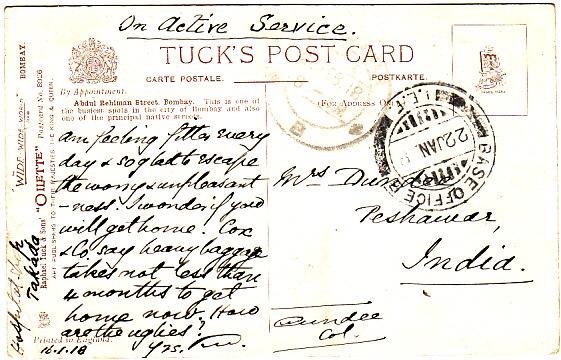 KENYA-INDIA [EAST AFRICA WW1-HOSPITAL SHIP]
