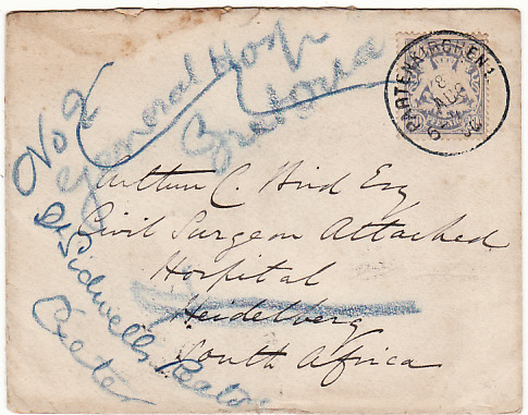 GERMANY-SOUTH AFRICA-GB [BOER WAR/ HOSPITAL]