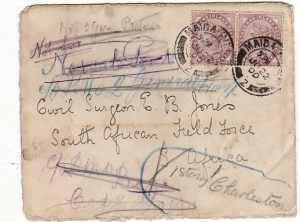 GB-SOUTH AFRICA [BOER WAR-COGH-REDIRECTED MAIL-HOSPITAL]
