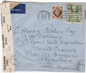 GB-ARGENTINA [3/6 AIRMAIL RATE]