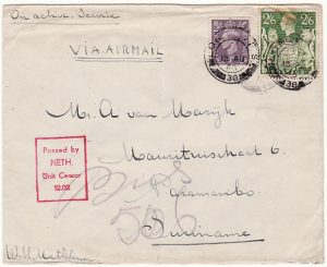 GB-NED. WEST INDIES [FREE DUTCH FORCES in UK-AIRMAIL]