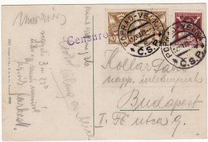 CZECHOSLOVAKIA-HUNGARY [CENSORED 1921]