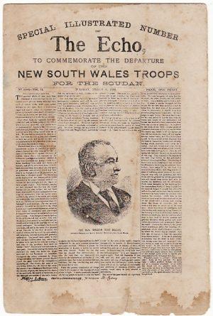 SUDAN [AUSTRALIAN N.S.W. MINIATURE NEWSPAPER]