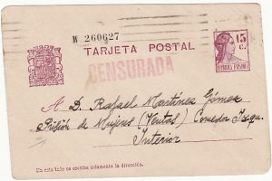 SPAIN [SPANISH CIVIL WAR-POW MAIL]