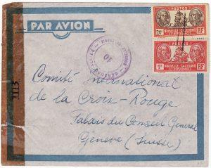 NEW CALEDONIA-SWITZERLAND [WW2-RED CROSS-AIRMAIL]