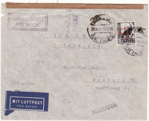 SPAIN-GERMANY [SPANISH CIVIL WAR-AIRMAIL]