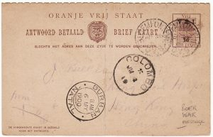SOUTH AFRICA-HONG KONG [BOER WAR-OVS-9th GENERAL HOSPITAL]