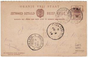 SOUTH AFRICA-HONG KONG [BOER WAR-OVS-9th GENERAL HOSPITAL]