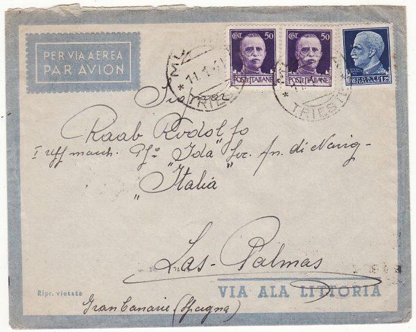 """1941  ITALY - SPAIN…WW2 INTERNED ITALIAN SHIP """"IDA""""  ....."""