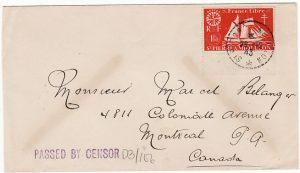 St. PIERRE & MIQUELON-CANADA [WW2-INTERNALLY CENSORED]