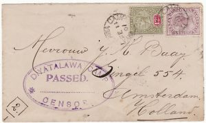 CEYLON-HOLLAND [BOER WAR-POW MAIL]