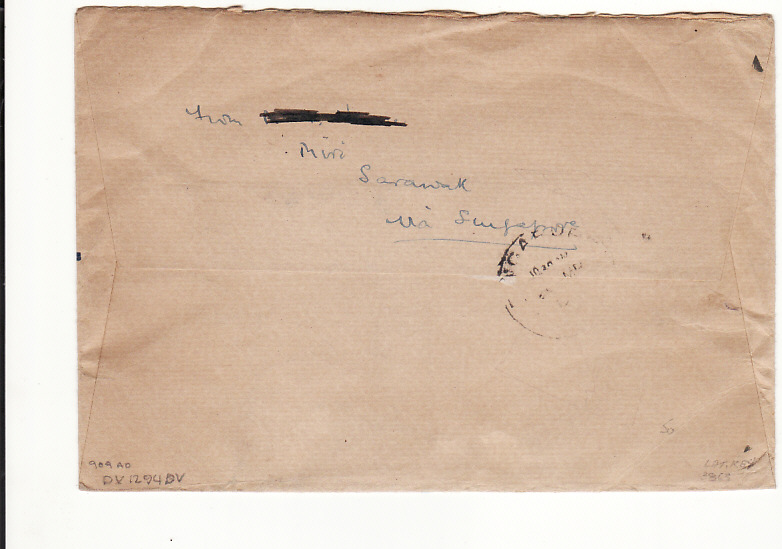 [11228]  SARAWAK-GB [WW2-CENSORED-REGISTERED]  1940(Mar 20)