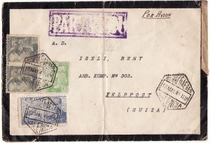 SPAIN-SWITZERLAND [WW2-AIRMAIL-CENSORED]