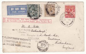 1931 FALKLAND Is - GB - AUSTRALIA……SOUTH GEORGIA BY EXPERIMENTAL AIR MAIL …