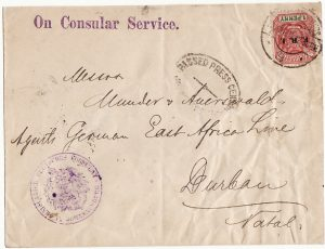 SOUTH AFRICA [BOER WAR-TRANSVAAL-NATAL-CONSULAR]