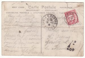 1914 FRANCE - GB…WW1 CHANNEL Is. to St. OWENS with POSTAGE DUE…