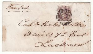 1858 India .. Indian Mutiny Internal Mail..