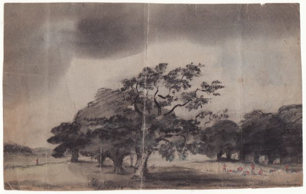 1858..INDIA - GB … INDIAN MUTINY WATER COLOUR PAINTING sent as WRAPPER.