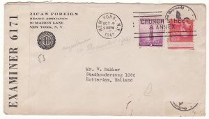 1941..USA - NETHERLANDS …WW2 CENSORED BERMUDA & GERMANY...