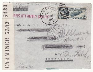 1941..USA - NETHERLANDS …WW2 CENSORED BERMUDA & GERMANY...