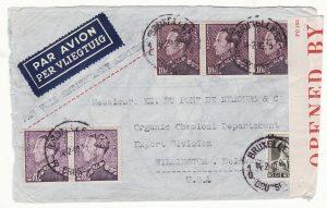 1940..BELGIUM - USA…WW2 AIRMAIL INTERCEPTED by CENSORS in BERMUDA...