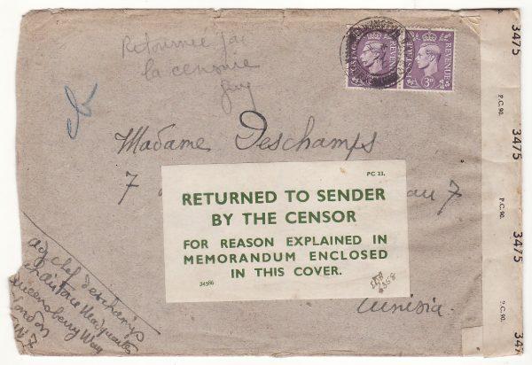 1944..GB - TUNISIA..WW2 FREE FRENCH AIR FORCE RETURNED..