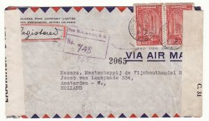1940..CANADA - NETHERLANDS..WW2  DOUBLE CENSORED…