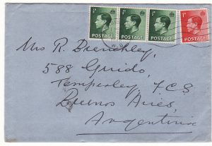 1936..GB - ARGENTINA…EDVIII USED in PERIOD…