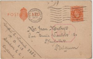 1944  GB - BELGIUM… WW2 BELGIAN FORCES UNDERCOVER ADDRESS..