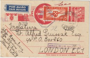 1940  PORTUGAL - GB …WW2 AIRMAIL to FREE POLISH FORCES. ...