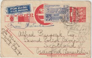 20721  1940  PORTUGAL - GB …WW2 AIRMAIL to FREE POLISH FORCES. ...