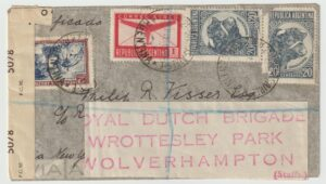 1944   ARGENTINA - GB...WW2 DUTCH FREE FORCES UNDERCOVER ADDRESS...
