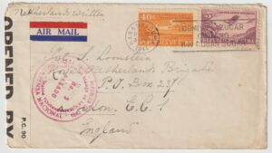 1944  CUBA - GB...WW2 DUTCH FREE FORCES UNDERCOVER ADDRESS...