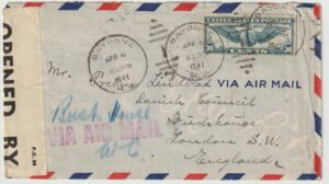1941  USA - GB...WW2 DANISH FREE MERCHANT NAVY...