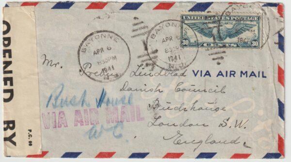 1941  USA - GB...WW2 DANISH FREE MERCHANT NAVY...