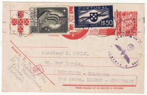 1940 PORTUGAL - BELGIUM…WW2 UNDERCOVER via STUTTGART…