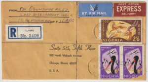 1969  NIGERIA - USA…BIAFRA WAR REGISTERED EXPRESS AIRMAIL…
