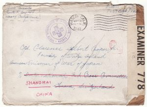 1942..USA - SWITZERLAND - CHINA…WW2 JAPANESE POW EX WAKE ISLAND CENSORED BERMUDA..