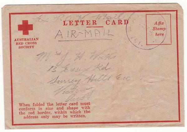 1945..MALAYA - AUSTRALIA…LIBERATED POW…