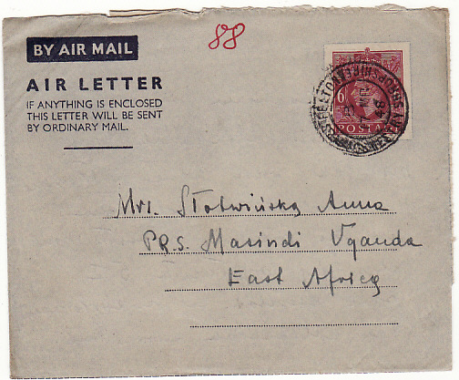 [12556]  GB-UGANDA [POLISH REFUGEE CAMP]  1948(Jan-Apr)