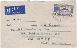 NEW ZEALAND-EGYPT [MIDDLE EAST FORCES-SPECIAL STATIONARY]