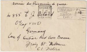 1941..AUSTRALIA...WW2 POW MAIL