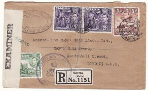 1944..MALTA-GB …RARE CIRCULAR PASSED FOR DESPATCH…