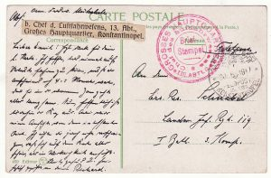 1917..TURKEY - GERMANY...GERMAN MILITARY MISSION AIR UNIT..