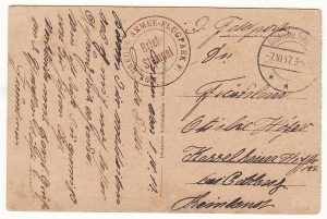 1917..LEBANON - GERMANY..GERMAN AIR UNIT MILITARY MISSION to TURKEY…
