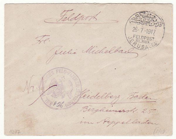 1917..PALESTINE - GERMANY..GERMAN MILITARY MISSION to TURKEY from OTTOMAN AVIATION UNIT…