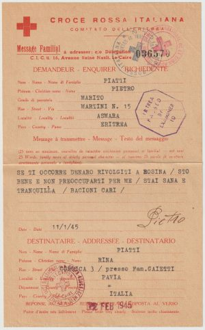 1945  USA - ITALIAN SOMALILAND..WW2 CENSORED & RETURNED TO SENDER..