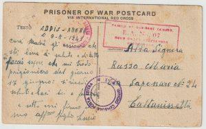1941  ETHIOPIA - ITALY..WW2 ITALIAN POW MAIL..