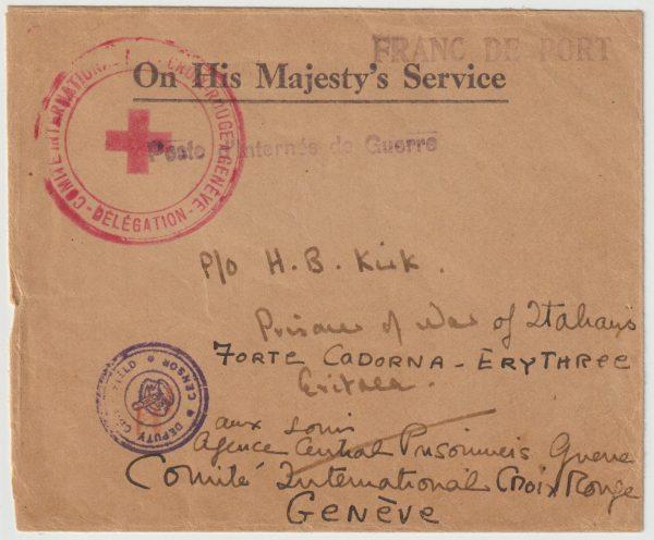 1941  ADEN - ERITREA..WW2 RAF PILOT OFFICER POW in ERITREA...