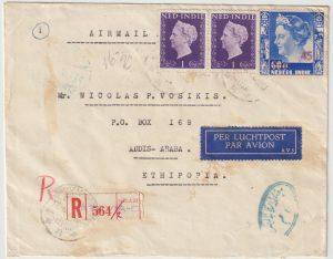 1948  NETHERLANDS EAST INDIES - ETHIOPIA…1948 CENSORED EGYPT ARAB ISRAELI WAR...